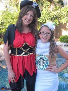 Starbucks Vanilla Latte Costume - 2013 Halloween Costume Contest via @costumeworks