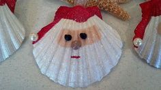 DIY Beach Inspired Holiday Decoration IdeasWith the holiday season coming, you are probably looking for ideas to make your home look festive, unique and eye-catching. This time around, don't se. Seashell Christmas Ornaments, Homemade Christmas Decorations, Beach Christmas, Christmas Crafts, Christmas 2017, Rustic Christmas, Coastal Christmas, Tropical Christmas, Snowman Ornaments