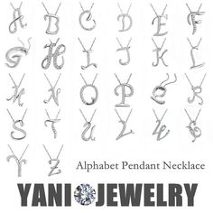 Cheap necklace circle, Buy Quality necklace perl directly from China necklace link Suppliers: YANI Jewelry Silver Letter A B C D E F G H I J K L M N O P Q I S T U V W X Y Z Pendant Necklace Chain Collar Statement N