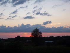 Beautiful country sunset.