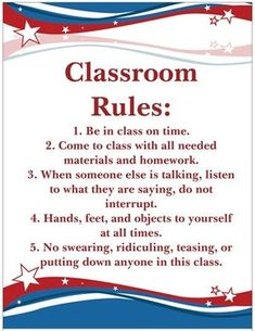 Use this classroom rules poster to display and review rules at the start of the year.