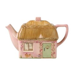 Cottage Teapot  Wonder if this is old...you would know.  I like the pink.