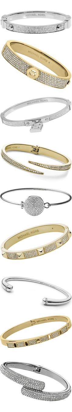 Silver and gold jewelry will be the top accenting colors for winter outfits this season so why not add these stunning Michael Kors bracelets to your jewelry options?