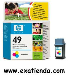 Ya disponible Cartucho HP 51649ae n49 3color     (por sólo 22.91 € IVA incluído):   -Compatible con: -DeskWriter 600 DeskWriter 660C DeskWriter 680C OfficeJet 700 OfficeJet 710 OfficeJet 720 DeskJet 692C DeskJet 694C DeskJet 693 DeskJet 695C DeskJet 697C psc 370 psc 380 OfficeJet 500 OfficeJet 520 OfficeJet 570 OfficeJet 590 OfficeJet 610 OfficeJet 630 OfficeJet 700 OfficeJet 720 DeskJet 660C DeskJet 670C DeskJet 672C DeskJet 680C DeskJet 682C DeskJet 690C Series DeskWrit