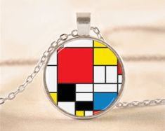 Mondrian Art Necklace
