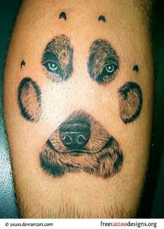 Caged Inside the Paw Tattoo