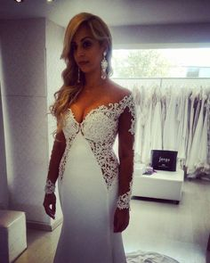 Couture long sleeve wedding dresses like this can be custom created for a bride of any size. We are in the USA and offer affordable custom #weddingdresses (as well as #replicas of couture dresses) to brides from all over the globe.  Email us your favorite picture from the internet to see how much it will cost to make a replica for you that will be much less than the original. www.dariuscordell.com