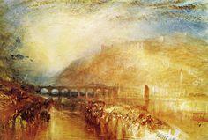 JMW Turner Watercolor Paintings | Turner, Heidelberg, c.1846. Watercolour, gouache and pen and ...