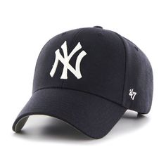 a0982f444fcd26 New York Yankees Classic Blue Structured Fit Velcro Strap Hat MLB
