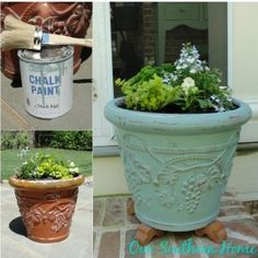http://www.oursouthernhomesc.com/2014/05/painting-garden-pots-annie-sloan-chalk-paint.html