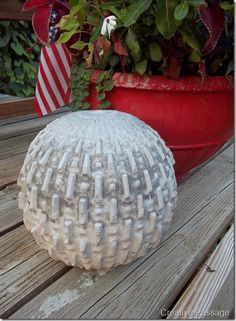 I really want to make this concrete ball, but think I will use hypertufa
