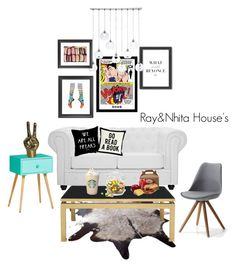 """""""Untitled #23"""" by nhitasheilota on Polyvore featuring interior, interiors, interior design, home, home decor, interior decorating, Modway, Americanflat, CB2 and Mitchell Gold + Bob Williams"""
