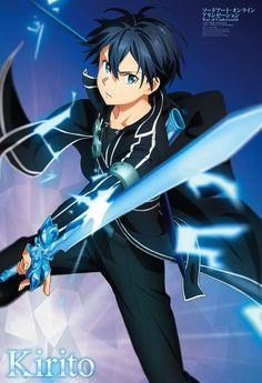 Kirito Sword, Sword Art Online Kirito, Kirito Kirigaya, Kirito Asuna, Sao Anime, Anime Art, Sword Art Online Wallpaper, Accel World, Kunst Online
