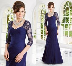 Royal Blue Plus Size Mother of the Brides Lace Dresses with Long Sleeves Appliques Sheath Floor Length Mother of Groom Dress Formal Gowns, $115.3 | DHgate.com