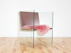 Fredrik Paulsen, the Glass + Steel Chair, presented at the Stockholm Furniture Fair 2017 / huskdesignblog.com / #design #chair #stockholmfurniturefair #fredrikpaulsen