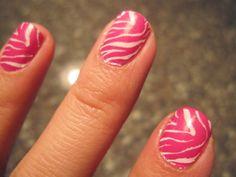 Zebra Print Nails | Konad Zebra Nails | Geniabeme Beauty Blog
