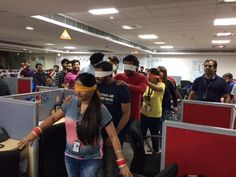 Life At Eli - Fundo Friday @ Eli Mahalaxmi Building. RuBaRu - your friends voice in your eyes. A Fun activity performed by the employees at Eli Mahalaxmi Building. Fun Activities, The Voice, Friday, Eyes, Friends, Building, Life, Fashion, Short I Activities