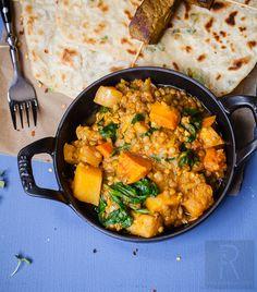 Butternut squash and lentil stew
