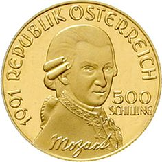 500 ÖS 1991 Don Giovanni. 8 g. Fine gold. In capsule. Nice 195. proof coinage