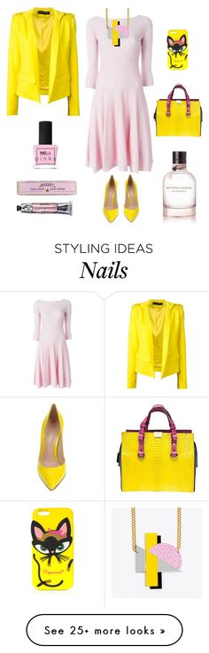"""""""Rose & Yellow"""" by ladybug71181 on Polyvore featuring Alexandre Vauthier, Emporio Armani, Gianvito Rossi, Dsquared2, Soap & Paper Factory and ncLA"""
