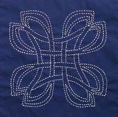 Japanese Embroidery Designs Danu a Celtic design Sashiko kit by ScarlettRoseCeltic on Etsy - Danu is Celtic knot Sashiko Embroidery, Learn Embroidery, Japanese Embroidery, Hand Embroidery Patterns, Embroidery Thread, Machine Embroidery, Embroidery Cards, Flower Embroidery, Knitting Patterns