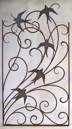 Wind and birds garden gate - Shawn Lovell metalworks