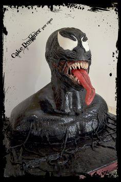 Cake Designer per caso [Venom Cake] 6th Birthday Parties, Boy Birthday, Birthday Ideas, Marvel Birthday Cake, Pull Apart Cupcakes, White Chocolate Cake, Cakes For Men, Family Birthdays, Cute Cakes