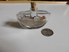 Desk top California sand and shells bottle by DKKustomDesignz on Etsy