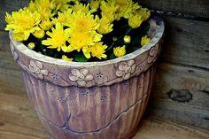 květináč na zeď-měděný-ihned skladem Planter Pots, Canning, Ceramic Art, Spoons, Clays, Home Canning, Conservation