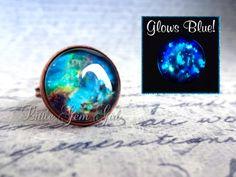 Glowing Galaxy Ring - Glow in the Dark ring