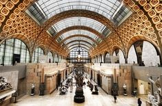 Once a Beaux Arts railway station, this glass-ceilinged museum houses a permanent collection that ranges from neoclassicism to art nouveau—but the impressionist works by artists like Monet, Manet, Van Gogh, Degas, Renoir, and Seurat are the crown jewel of Musée d'Orsay.