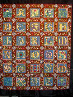 Illuminated Alphabet - Zena Thorpe. Beautiful!
