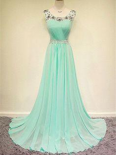 Prom Dresses Pearl Pink Rhinestone Long Prom Dress/Evening Dress #JKL022