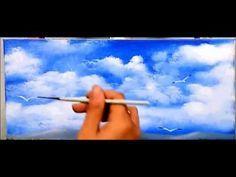Yagli Boya Gokyuzu Nasil Yapilir Gokyuzu Resmi Cizimi Youtube Yagli Boya Bulutlar Resimler