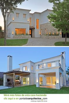 Bungalow Exterior, Bungalow House Design, Small House Design, Dream Home Design, Home Design Plans, Casas Country, Minimal Home, Mediterranean Decor, Home Fashion