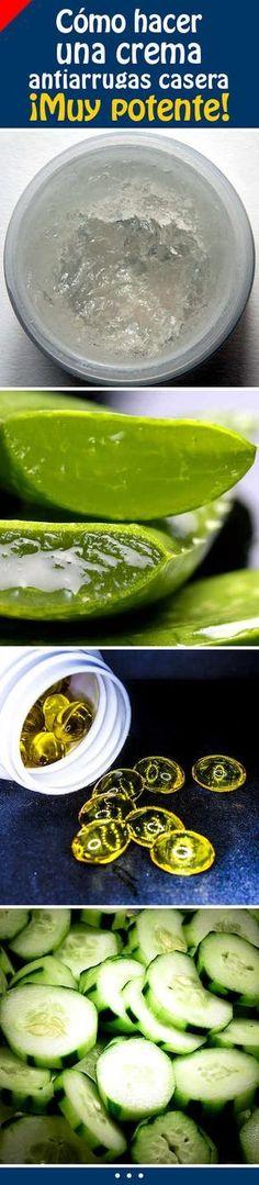 Cómo hacer una crema antiarrugas casera. ¡Muy potente! #crema #cacera #antiarrugas #rostro #piel
