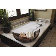 "Hydro Systems Designer Eileen 74"" x 38"" Soaking Bathtub Finish: Biscuit #WhirlpoolBathtub"