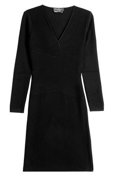 SALVATORE FERRAGAMO Ribbed Sweater Dress. #salvatoreferragamo #cloth #dresses