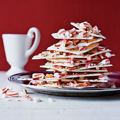 Peppermint-Pretzel Bark | MyRecipes.com