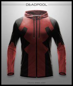 Imagined Deadpool athletic hoodie jacket by Seventhirtytwo on Deviantart.