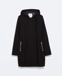 Image 6 of COAT WITH HOOD from Zara