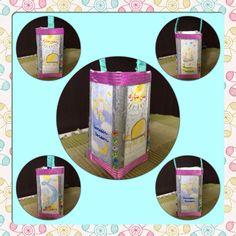 Milk carton lantern