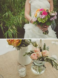 beautiful bouquet and flowers