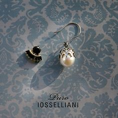 IOSSELLIANI Puro collection is inspired by love of Italian women to be adorned by their memories and stories.The engagement ring, necklace gift of an antique lover Iosselliani, Italian Women, Pearl Earrings, Drop Earrings, Engagement Rings, Gifts, Jewelry, Enagement Rings, Pearl Studs