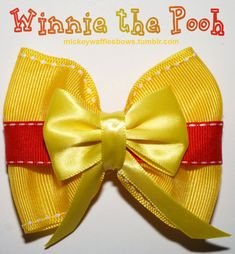 Winnie the Pooh Hair Bow by MickeyWaffles on Etsy, $6.00