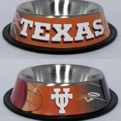 Texas Longhorn bowls for dogs/cats.
