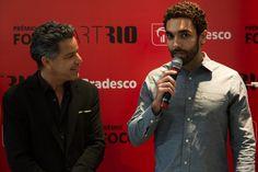 Luiz Calainho e Bernardo Mosqueira, curador do Prêmio FOCO Bradesco ArtRio2016