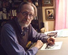 Robert Crumb at work in his studio in southern France