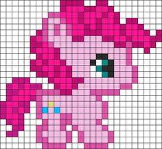 Cute Pinkie Pie Perler Hama Bead Pattern