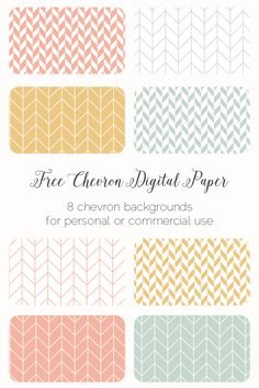 Sunday Freebie: 8 Chevron Backgrounds - - Elan Blog Studio
